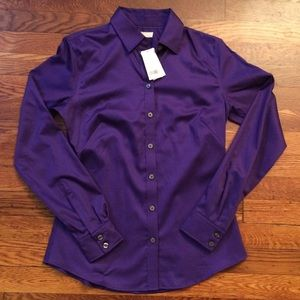 Banana Republic Fitted Stretch Dress Shirt Size 6